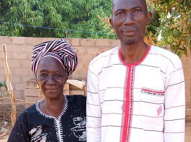 Fabé Traoré with his mother