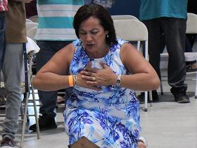 person kneeling